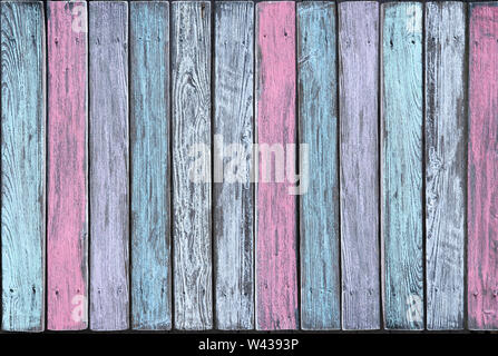 Vertical boards in different pastel shades - Stock Photo