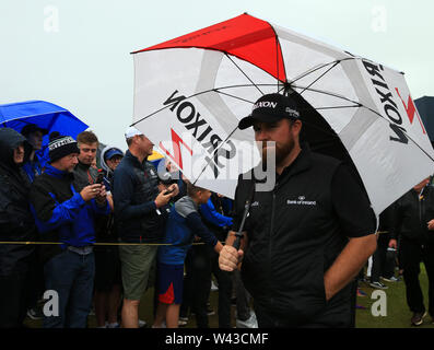 19th July, Portrush, Country Antrim, Northern Ireland; The 148th Open Golf Championship, Royal Portrush, Round Two ; Shane Lowry (IRE) walks from the 13th tee - Stock Photo