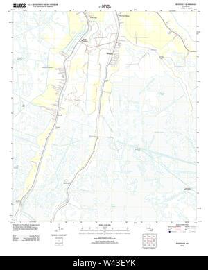 USGS TOPO Map Louisiana LA Montegut 20120413 TM - Stock Photo