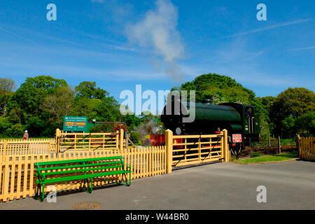 The Isle of Wight Steam Railway - Stock Photo