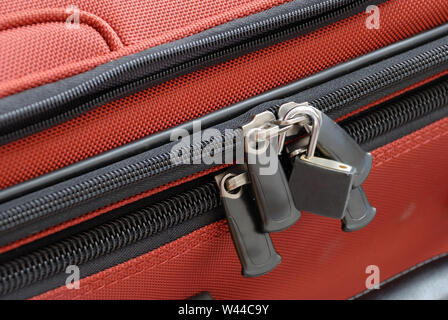 Close up of a luggage lock - Stock Photo