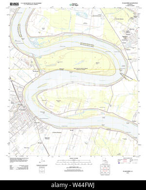 USGS TOPO Map Louisiana LA Plaquemine 20120423 TM - Stock Photo
