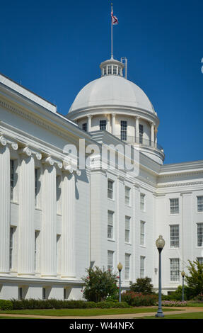 The dome atop the historical Alabama State Capitol building in Montgomery, AL - Stock Photo