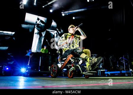 Barolo, Italy july 6th 2019 Salmo live at Collisioni Festival 2019 © Roberto Finizio / Alamy - Stock Photo