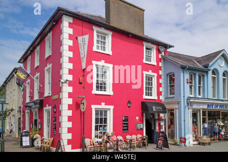 Aberaeron a seaside resort, Cardigan Bay, Ceredigion, Wales, UK - Stock Photo