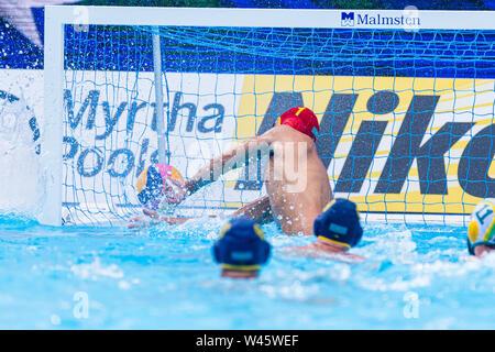 17 july 2019 Gwangju, South Korea 18th FINA World Aquatics Championships  17-07-2019: WK waterpolo: Australia v Kazaksthan: Gwangju #1 LIPILIN Pavel ( - Stock Photo