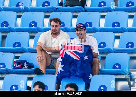 17 july 2019 Gwangju, South Korea 18th FINA World Aquatics Championships  17-07-2019: WK waterpolo: Australia v Kazaksthan: Gwangju Australian support - Stock Photo