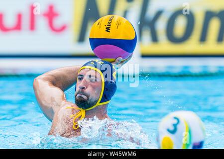 17 july 2019 Gwangju, South Korea 18th FINA World Aquatics Championships  17-07-2019: WK waterpolo: Australia v Kazaksthan: Gwangju #2 MEDVEDEV Yevgen - Stock Photo