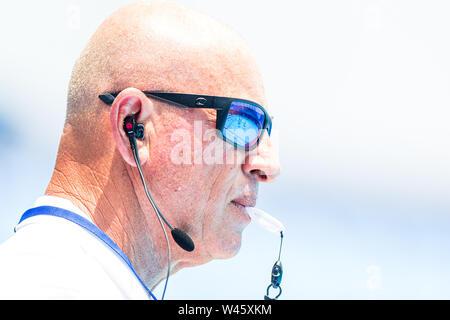 17 july 2019 Gwangju, South Korea 18th FINA World Aquatics Championships  17-07-2019: WK waterpolo: Hungary v Spain: Gwangju Referee GOLDENBERG Michae - Stock Photo