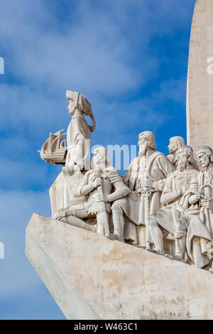 Lisbon, Portugal.  Padrao dos Descobrimentos or Monument to the Discoveries, which commemorates the 500th anniversary of the death of Prince Henry the - Stock Photo
