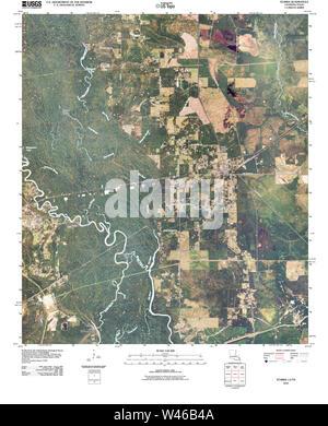 USGS TOPO Map Louisiana LA Starks 20100609 TM - Stock Photo