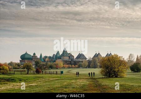 A wooden residence of Russian Tsars in Kolomenskoye, Moscow, Russia - Stock Photo