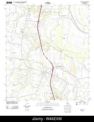 USGS TOPO Map Louisiana LA Sunset 20120321 TM - Stock Photo