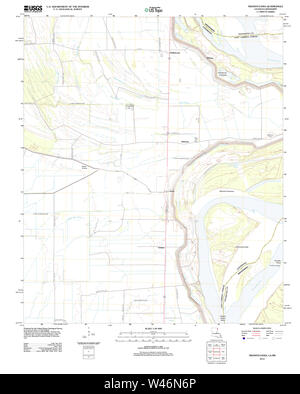 USGS TOPO Map Louisiana LA Transylvania 20120419 TM - Stock Photo