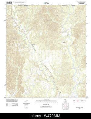 USGS TOPO Map Louisiana LA Weyanoke 20120423 TM - Stock Photo