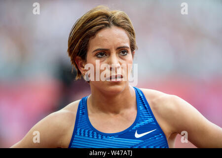 London, UK. 20th July, 2019. Rababe Arafi (MAR), Women's 1500m (Diamond League) during the IAAF Diamond League - Muller Anniversary Games - London Grand Prix 2019 at the London Stadium, Queen Elizabeth Olympic Park, London, England on 20 July 2019. Photo by Salvio Calabrese. Credit: UK Sports Pics Ltd/Alamy Live News - Stock Photo