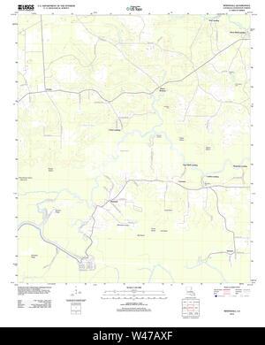 USGS TOPO Map Louisiana LA Whitehall 20120328 TM - Stock Photo
