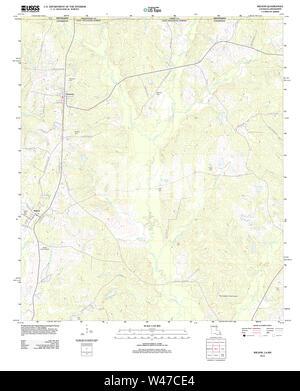 USGS TOPO Map Louisiana LA Wilson 20120423 TM - Stock Photo