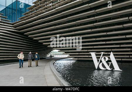 V&A Dundee logo, design museum, Waterfront, Dundee, Scotland, UK - Stock Photo