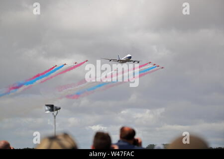 Fairford, UK. 20th July 2019. British Airways celebrates its anniversary with a flypast. © Uwe Deffner / Alamy Live News - Stock Photo