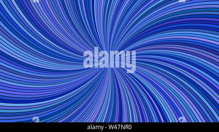 Blue abstract hypnotic swirl stripe background - vector curved ray burst design - Stock Photo