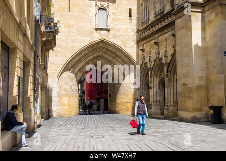 Bordeaux, France - May 5, 2019: La Grosse Cloche or the Big Bell of Bordeaux, France - Stock Photo