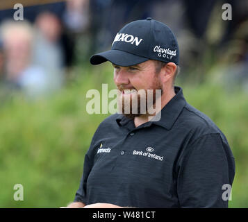 20th July, Portrush, Country Antrim, Northern Ireland; The 148th Open Golf Championship, Royal Portrush, Day Three; Shane Lowry looks on at the 16th hole - Stock Photo