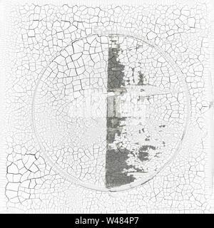 Zen Fragments Minimalist Painting white cracked background