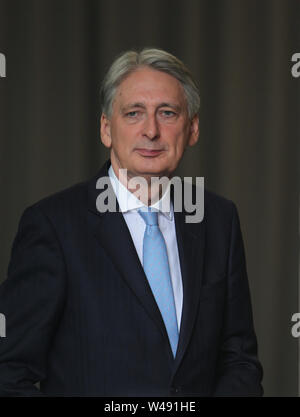 London, UK, 21th July 2019. Philip Hammond Chancellor of the Exchequer seen leaving the BBC after announcing live on the Andrew Marr Show that he will be resigning. Credit: WFPA/Alamy Live News - Stock Photo