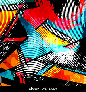 abstract color pattern in graffiti style quality vector illustration for your design - Stock Photo
