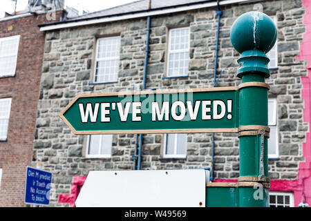 Writing note showing We Ve Moved. Business concept for To go from one residence or location to another Relocate - Stock Photo