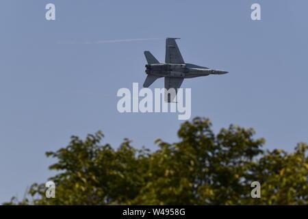 McDonnell Douglas F/A-18 Hornet Fighter Jet - RAAF Royal Australian Air-force - Stock Photo