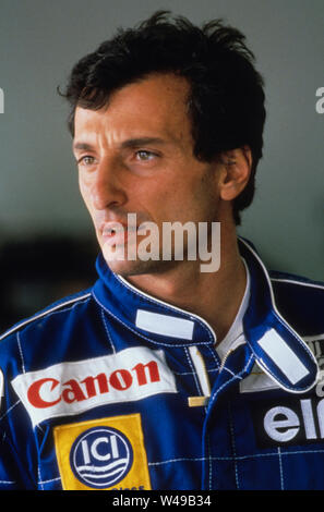 Ricardo Patrese Italian racing driver raced in Formula one - Stock Photo