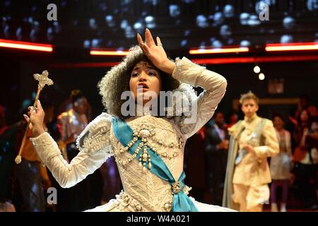 INDYA MOORE in POSE (2018), directed by RYAN MURPHY. Credit: FX NETWORK / Album - Stock Photo