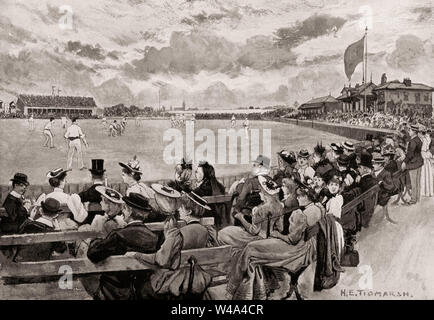 Old Trafford cricket ground, Old Trafford, Greater Manchester, England, 19th century - Stock Photo
