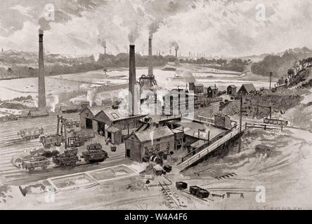 Clifton Hall Colliery, City of Salford in Greater Manchester, England, 19th century - Stock Photo