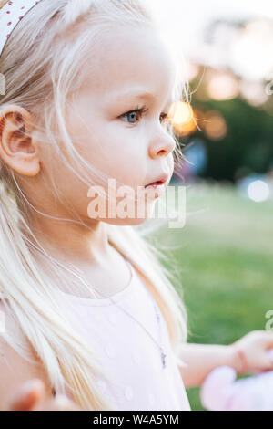 Portrait of Toddler Child with big adorable eyes