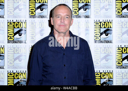 Clark Gregg at the Photocall for the ABC TV series 'Marvel's Agents of SHIELD' at the San Diego Comic-Con International 2019 at the Hilton Bayfront Hotel. San Diego, 19.07.2019 | usage worldwide - Stock Photo