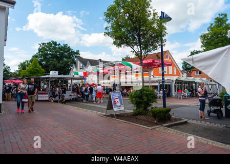 Hude, Germany, July, 21 2019: the day after the italian night in the municipality of hude lower  saxony - Stock Photo