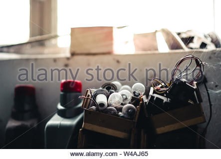 Details in the car mechanic shop - Car Electrician - Stock Photo