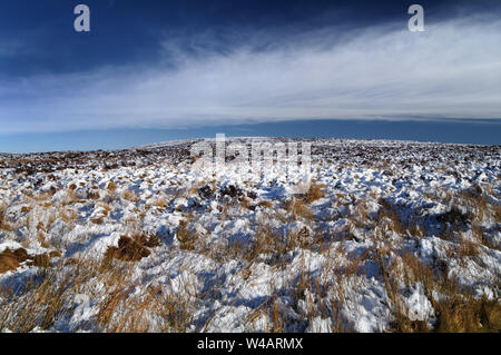 UK,Derbyshire,Peak District,Black Hill from Moss Road - Stock Photo