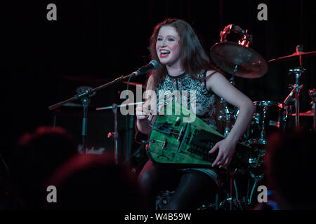 London, UK. 21st July, 2019. Patty Gurdy is from Germany performs at The Lexington, Pentonville Rd, Islington,on 21 July 2019,  London, UK. Credit: Picture Capital/Alamy Live News - Stock Photo