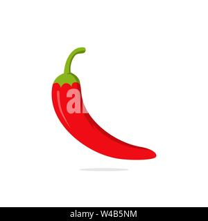 hot chilli pepper vector illustration, spice vegetable symbol icon - Stock Photo