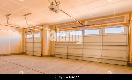 Interior Of An Unfinished Garage With Unpainted Walls And Ceiling Stock Photo Alamy