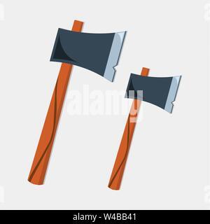 Wooden axe vector illustration - Stock Photo