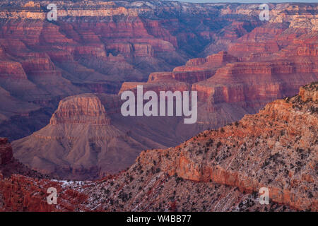 Evening view from Pipe Creek Vista, Grand Canyon National Park, Arizona - Stock Photo