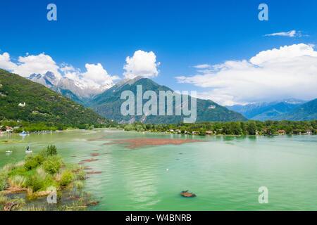Gera Lario in spring, Lake Como, Lombardy, Italy - Stock Photo