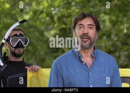 Greenpeace event to demand the protection of oceans, in Madrid, Spain, 20 June 2019 Featuring: Javier Bardem Where: Madrid, Spain When: 20 Jun 2019 Credit: Oscar Gonzalez/WENN.com - Stock Photo
