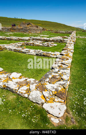 The Brough of Birsay an ancient Pictish and later Norse settlement on a tidal island off mainland Orkney, Scotland, UK. - Stock Photo