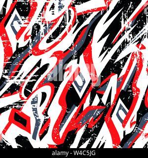 beautiful graffiti grunge texture abstract background vector illustration - Stock Photo